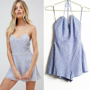 The Jetset Diaries Haven Chambray Stripe Romper XS